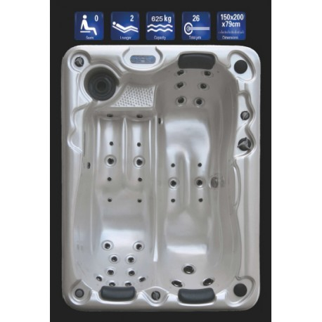 Spa feeling vasca idromassaggio 2 posti per esterno o interno for Arredo plast spa